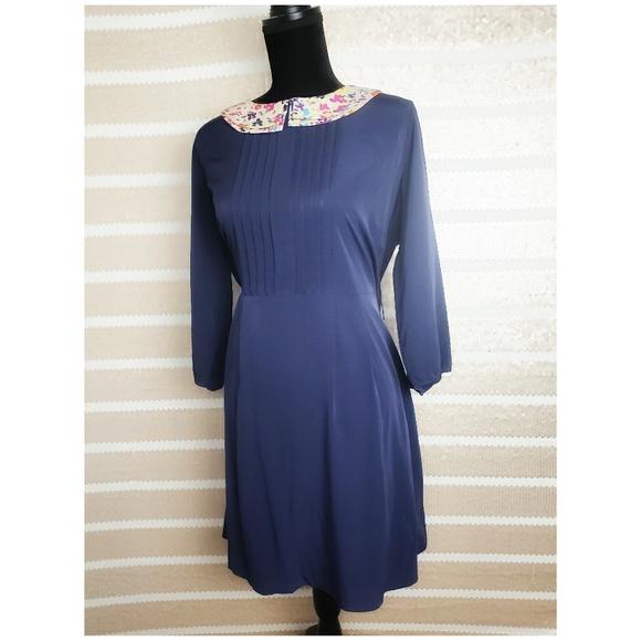 26934a0b0 Jessica Simpson Dresses | Hp 18w Nwt Blue Floral Collar | Poshmark